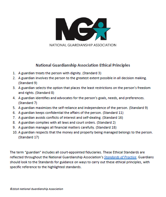 National Guardianship Association Ethical Principles